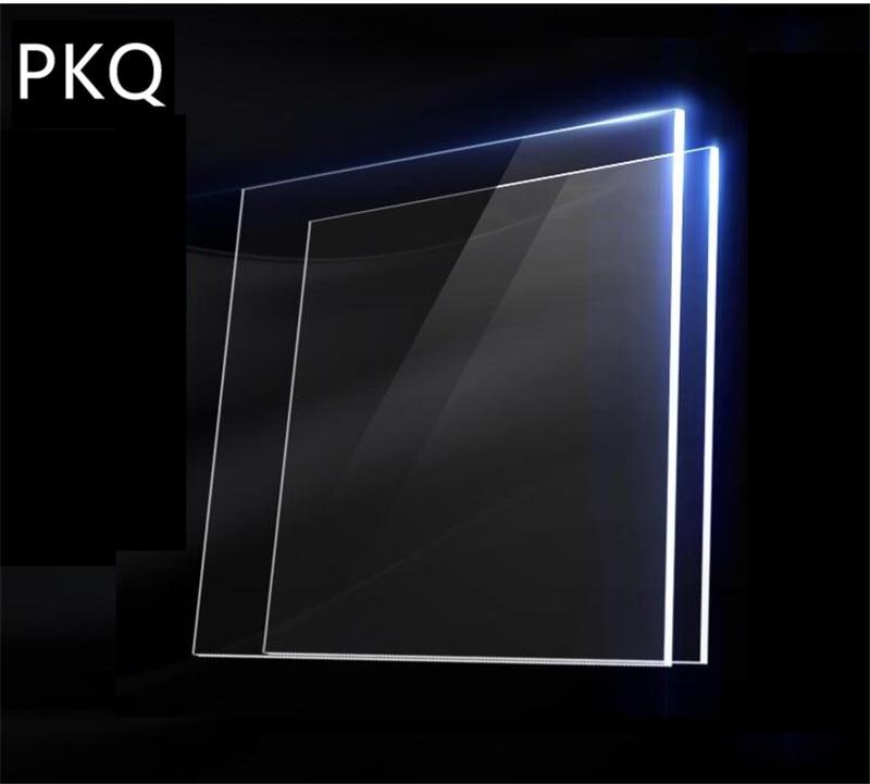 20pcs/lot Acrylic Sheet Plexiglass Transparent Solid Sheets Acrylic Board DIY Plastic Plates Plexiglass Perspex 1mm Thickness