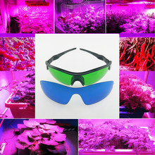 BEYLSION LED Grow Room Glasses Plant Light Eye Protect Glasses Anti-glare Anti-UV Green Lens Glasses for Grow Tent Greenhouse(China)
