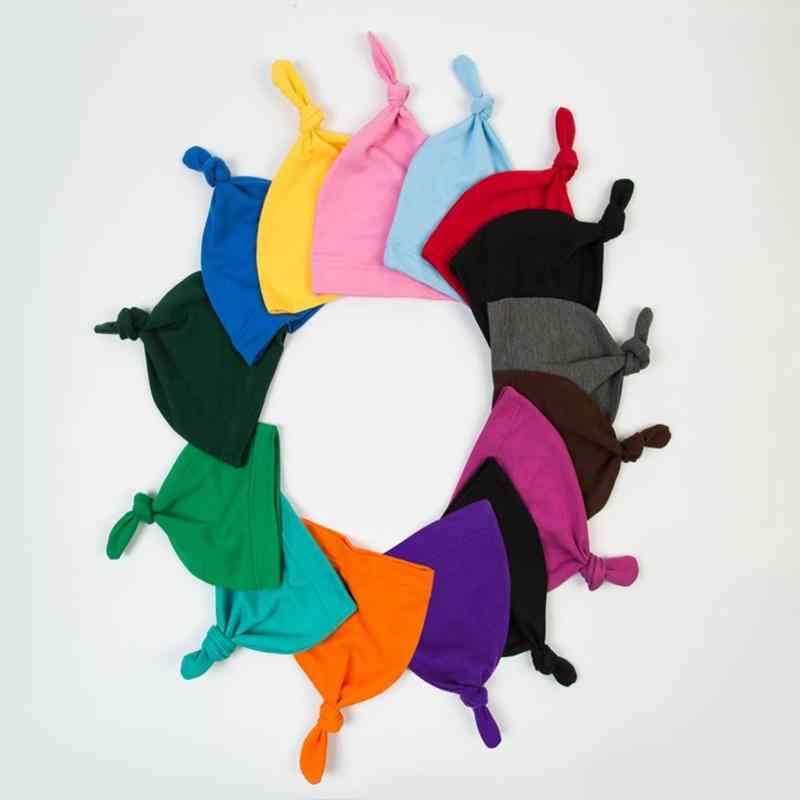 ทารกแรกเกิดเด็กชายหญิงหมวกเด็กน่ารักสี Beanies ทารก Knotted ฤดูใบไม้ร่วงฤดูหนาวเด็กหมวกถักหมวก