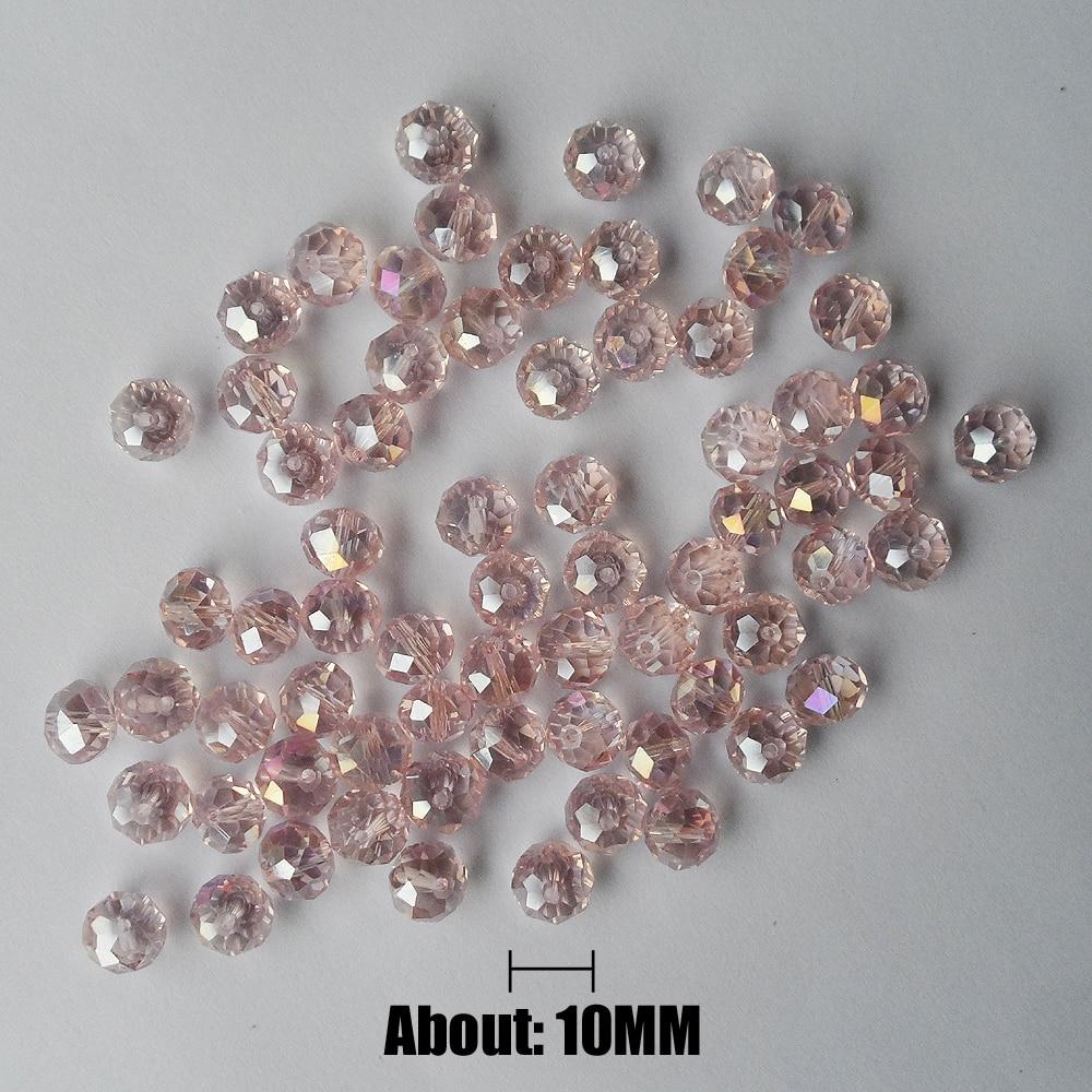 Сексуальные тонкие 10 мм розовые Кристальные плоские бусины с покрытием AB цвета, хорошее качество, прозрачные розовые 10 мм плоские Кристальн...