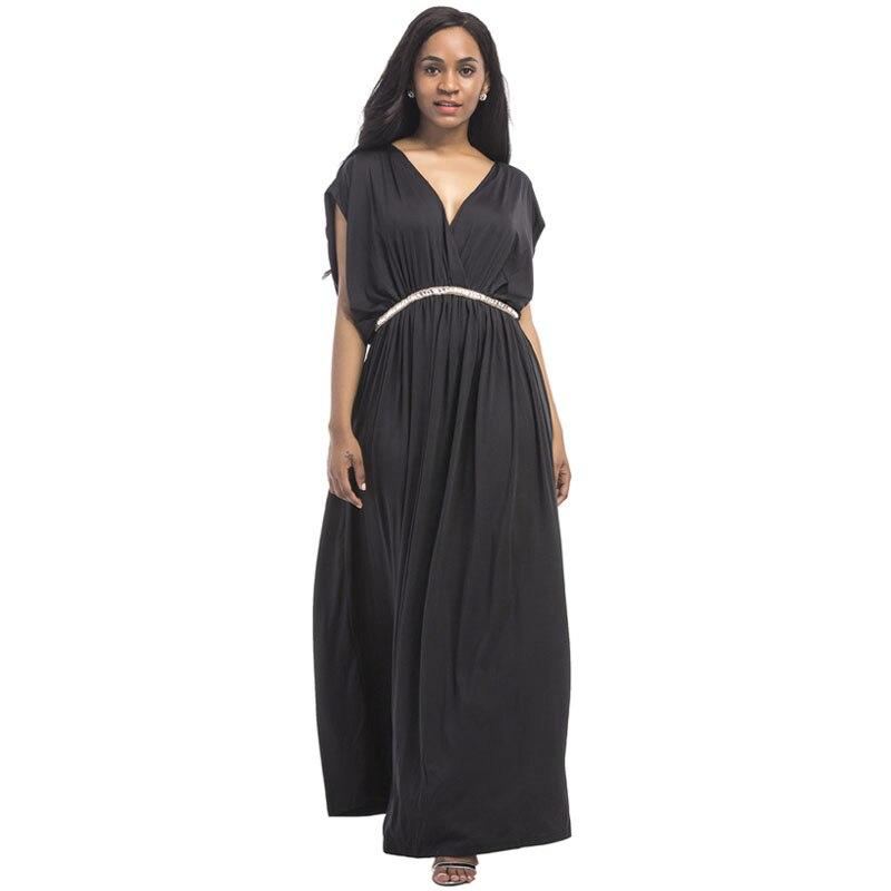 Evening Dresses For Pregnant Women Maternity Clothes Long Loose V-neck Diamond Belt Pregnancy Dress Lady Gravidas Vestidos Dress Одежда