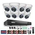 Annke 8-channel hd-tvi 1080 p gravador dvr segurança com 8x 1920tvl (2.1mp) em/ao ar livre fixo câmeras de cctv sistema de vigilância