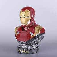 Action Marvel Avengers GK Resin Model Iron Man Bust Marvel Movie Figure Toys Iron Man Commemorative Edition Collection Model Toy
