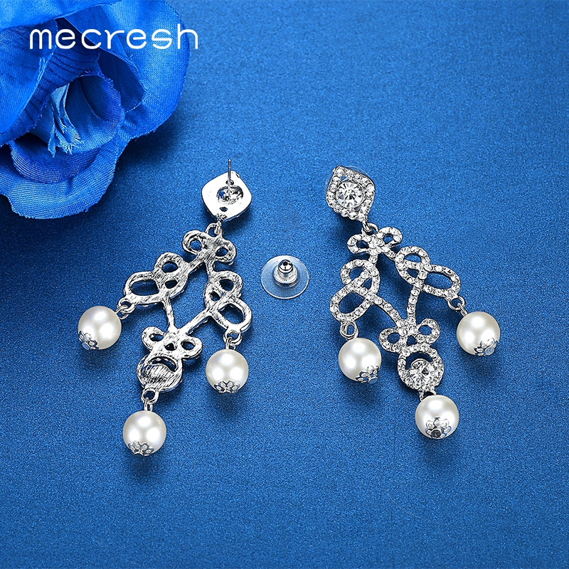 Mecresh Silver Color Simulated Pearl ... c541f7c9a100