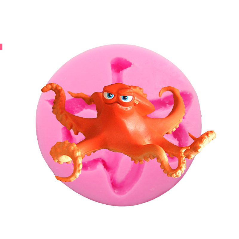 US $20 5 |High Qualtiy DIY Cute 3D Squid Molds Fondant Silicone Chocolate  Moulds Octopus Candy Candle Molds Cake Baking Bakeware-in Cake Molds from