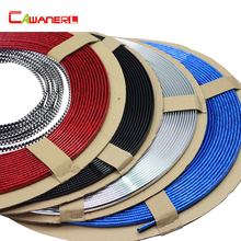 Cawanerl Car Chrome Trim Decoration Strip For Lada Granta Kalina Priora Largus Samara Hyundai Solaris Santa