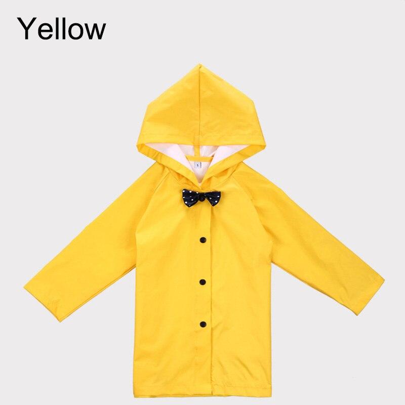 Solid Yellow Color Kid Raincoat Children Outdoor Raincoat Kid Hiking ...