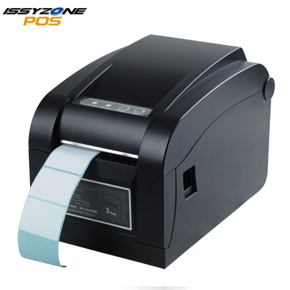 IssyzonePOS 3 Inch Direct Thermal Label Printer Warehouse Retail Sticker Printer Support QR Barcode Print With USB Serial Port