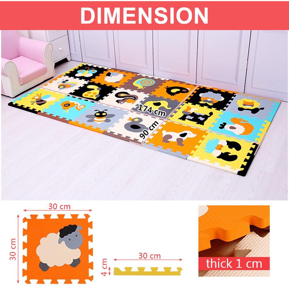 Tapis en mousse EVA pour enfants tapis en mosaïque tapis rampants 18 pièces/ensemble tapis de Puzzle tapis de jeu pour bébé tapis de Puzzle offre spéciale - 4