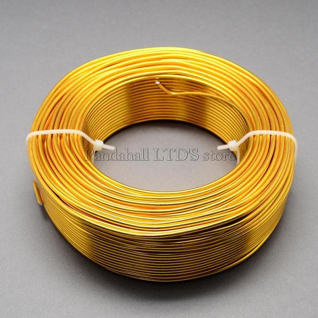 100m/roll Goldenrod Aluminum Wire  for Jewelry Beads Making 1.5mm in diameter