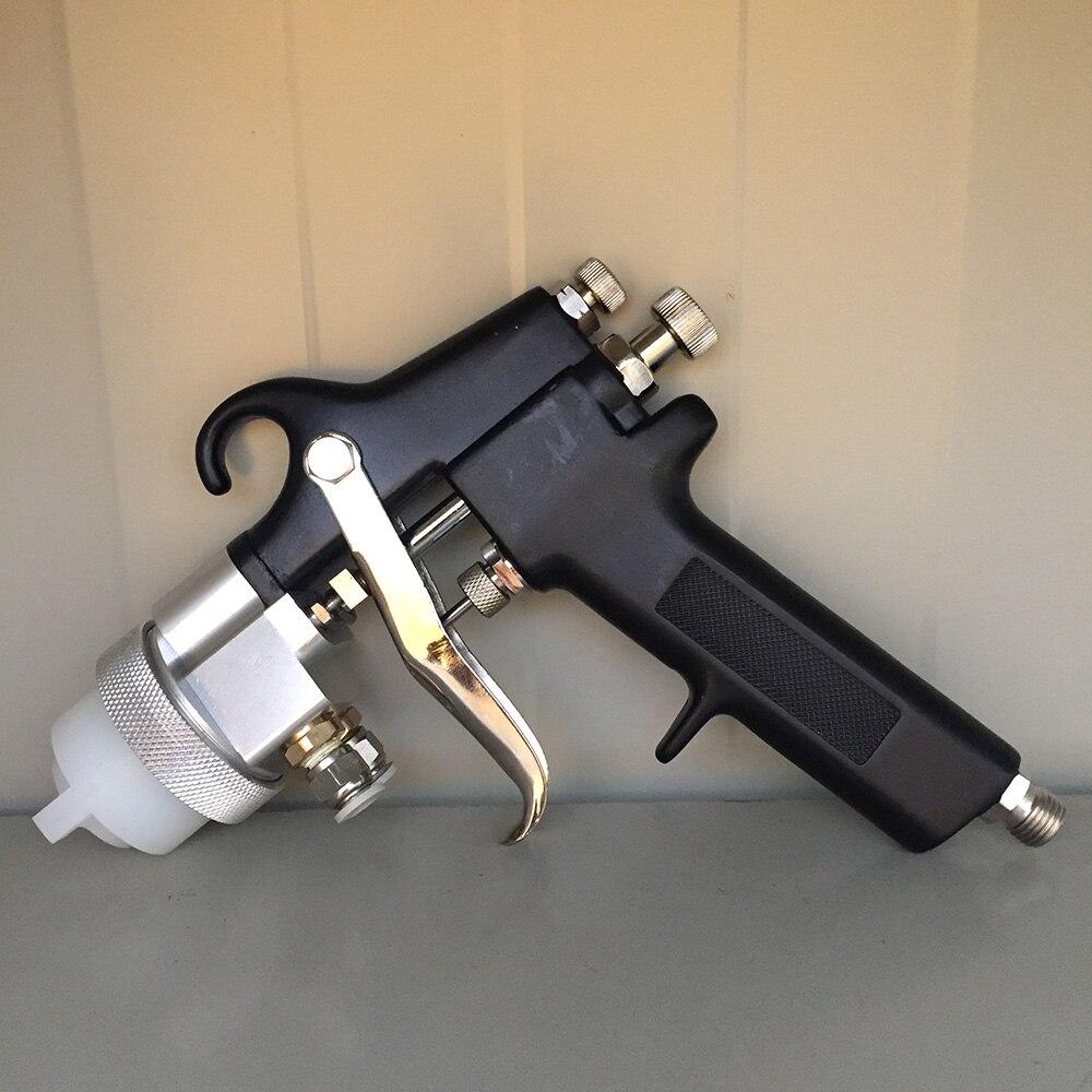 SAT1182 Double Nozzle Spray Gun Pressure Feed Air Sprayer Air Brush Dual Nozzle Chrome Plate Paint
