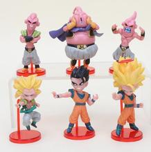 6 pcs Dragon Ball Z Son Goku Gohan Chiaotzu Pilaf chichi Garin Fairy Krillin Kame Sennin Kids Action Figure Toys Christmas Gift