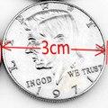 1 unids Medio Dólar Trucos de Magia con Monedas No Copiar Estilo Real de La Moneda