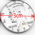 1pcs Half Dollar Coin Magic Tricks Copy Style Not Real Coin