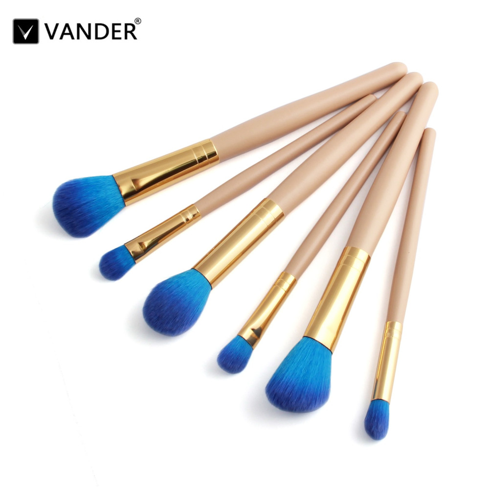 Vander Pro 6Pcs Makeup Brushes Set Powder Blush Foundation Eyeshadow Eyeliner Lip Cosmetic Kit Beauty Blending Tools Maquiagem фонарик vander multifunctional18650 edc