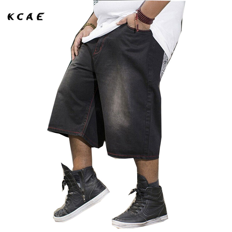 Mens Shorts Plus Size 30-46 100% Cotton Baggy Jeans Shorts Men Leisure Denim Shorts For Big And Tall Men Jogger Shorts