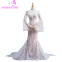 2018 Vintage Lace Mermaid Wedding Dress Long Sleeves Turkey Vestido De Novia Bridal Gowns Robe Mariee Sexy Wedding Dresses