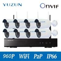 yuzun 960P hd cctv camera kit 8 camera cctv system kit professional cctv camera night vision security set