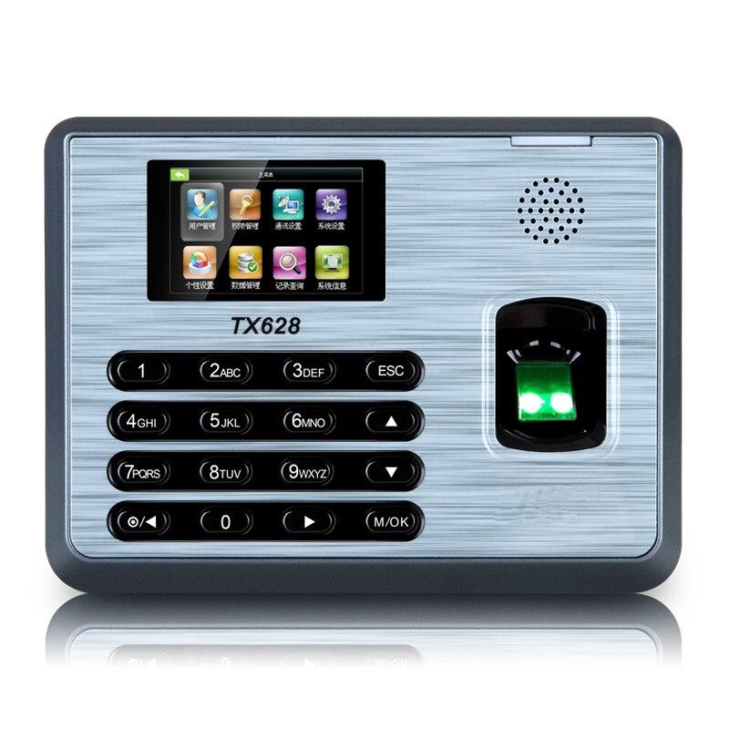 Zkteco TX628 tcp/ip empreinte digitale temps de présence horloge d'empreintes digitales Terminal de présence des employés