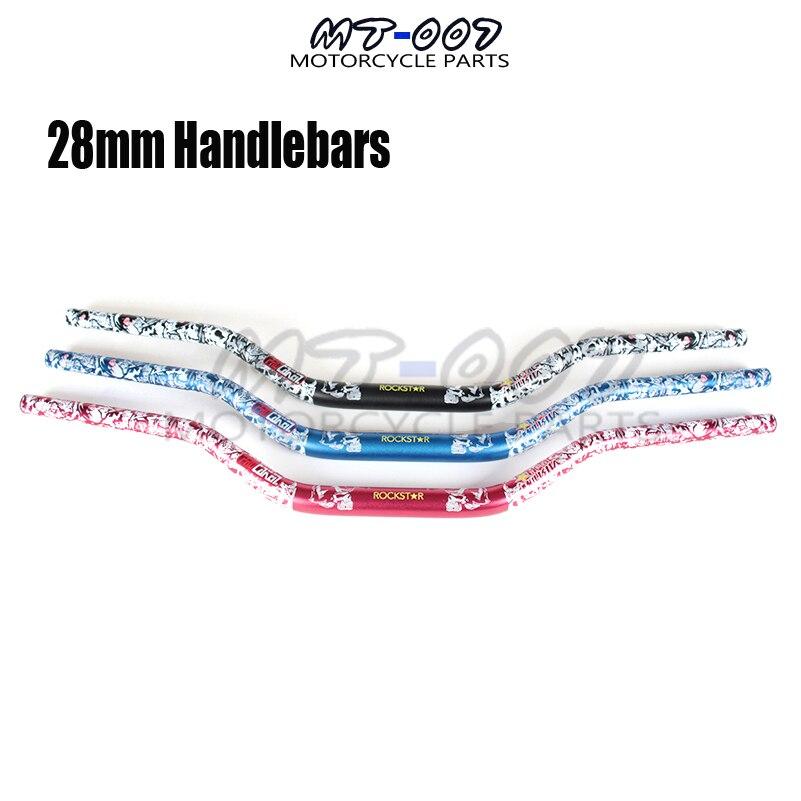 Three colors Mulisha 1-1/8 28mm Handlebars Handle Tubes Fat Bars CRF YZF RMZ KXF EXC HUSABERG HUSQVARNA FE TE FC TC RMZ