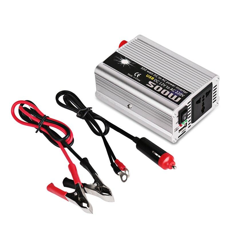 500W Auto Car Voltage Converter 12V 220V DC TO AC Power Inverter Modified Sine Wave Solar Inverter for Car With USB Port