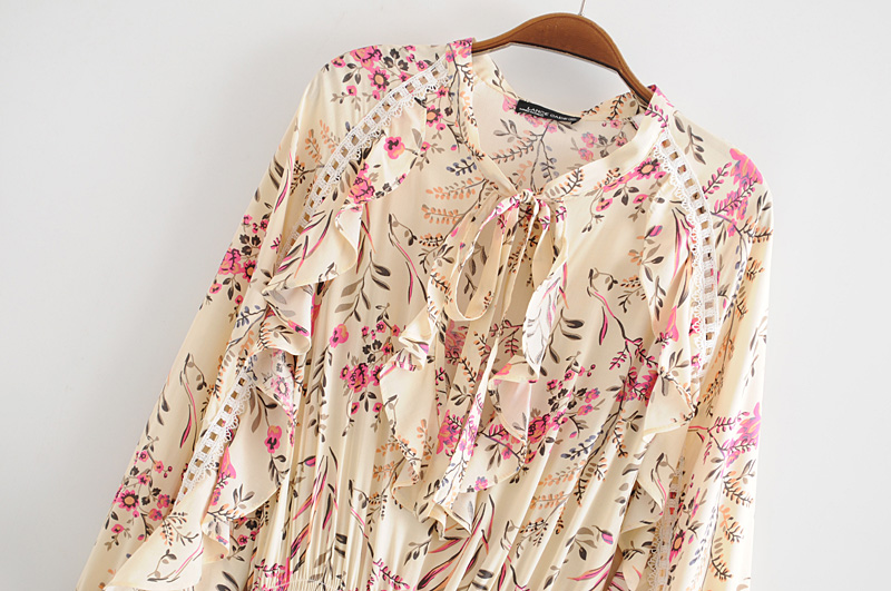 Butterfly Sleeve Floral Print Boho Mini Dress 18