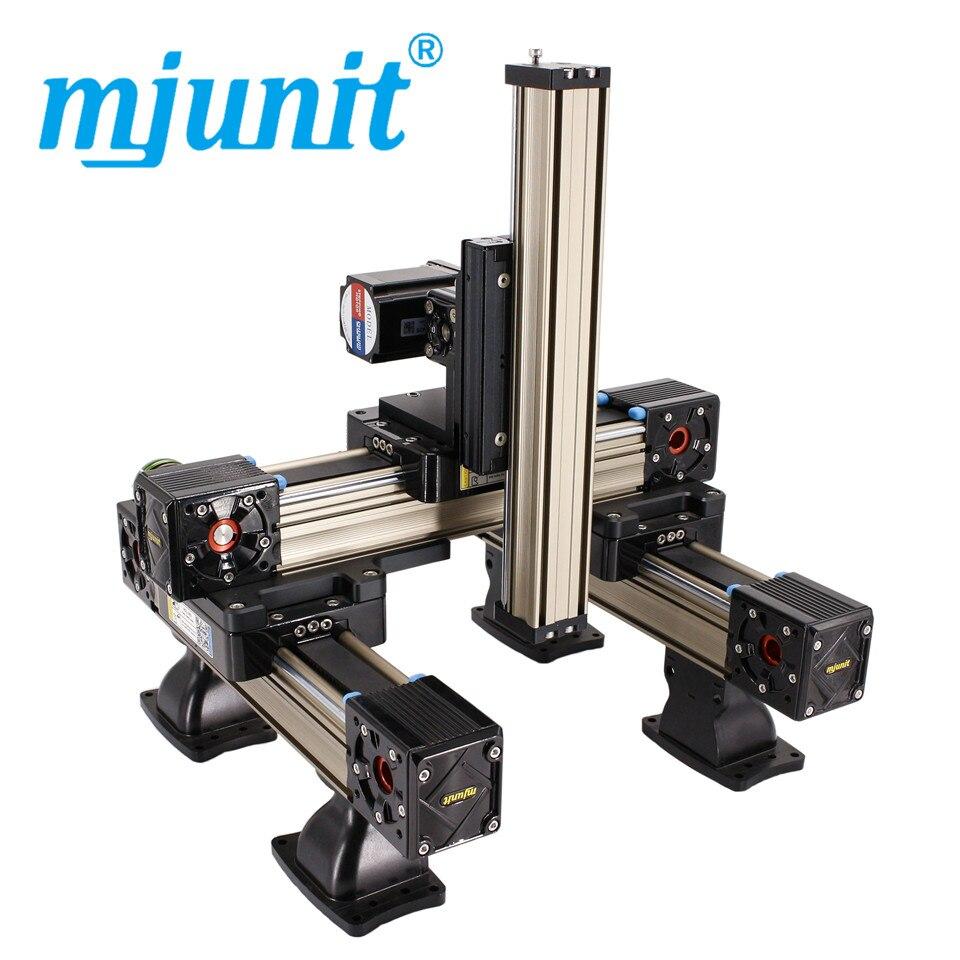 mjunit MJ60+MJ45 xyz Linear Slide Actuator Timing Belt Drive Type linear rail with 1000x800x400mm stroke length mjunit mj60 mj45 xyz linear actuator belt drive unit linear rail with 600x400x400mm stroke length