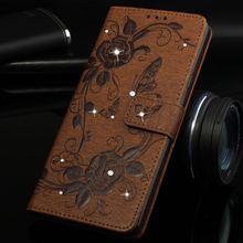 Анютины глазки Флип Алмаз чехол для samsung Galaxy Note 9 8 S8 S9 A8 плюс A3 A5 j3 j5 2016 j7 2017 чехол для телефона Fundas Бумажник Обложка P15G