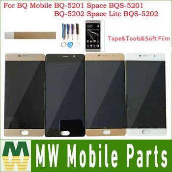 Pour BQ BQ-5201 Mobile espace BQS-5201 BQ-5202 espace Lite BQS-5202 BQ5201 LCD écran tactile capteur numériseur avec ruban adhésif