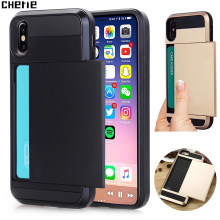 Olhveitra Phone Cover Accessories For iPhone X 7 8 6 6S Plus Case Card Holder For iPhone XR XS Max 5S 5 SE Fundas Coque Armor PC(China)