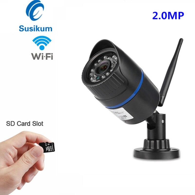 2MP caméra de sécurité Wifi extérieure/intérieure 1080P CCTV Surveillance étanche caméra IP sans fil avec 64GB TF carte Solt