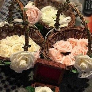 Image 5 - 10 Pcs Real Touch Künstliche Blume Latex Rose Blume Künstliche Bouquet Gefälschte Blume Braut Bouquet Verzieren Blumen Für Hochzeit