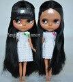 Бесплатная доставка Обнаженная Блайт Кукла, черные волосы, Темная кожа, большой глаз куклы, кукла Подходит Для DIY Изменение BJD, для девушки Подарок