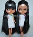 Free shipping Nude Blyth Doll, black hair,Dark skin, big eye doll,Fashion doll Suitable For DIY Change BJD , For Girl's Gift