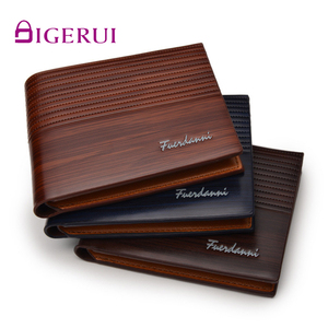 DIGERUI Top 2020 Vintage Men Leather Brand Luxury Wallet Short Male Purses Money wood grain Clip Credit Card Multi-card position(China)