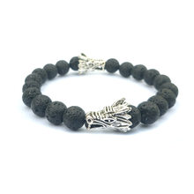 2019 NEW 8mm Natural Stone Dragon Chasing Dragon Men and Women Blessing Bracelet(China)