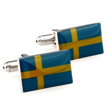 Sweden Flag Cufflink 15 Pairs Wholesale Free Shipping