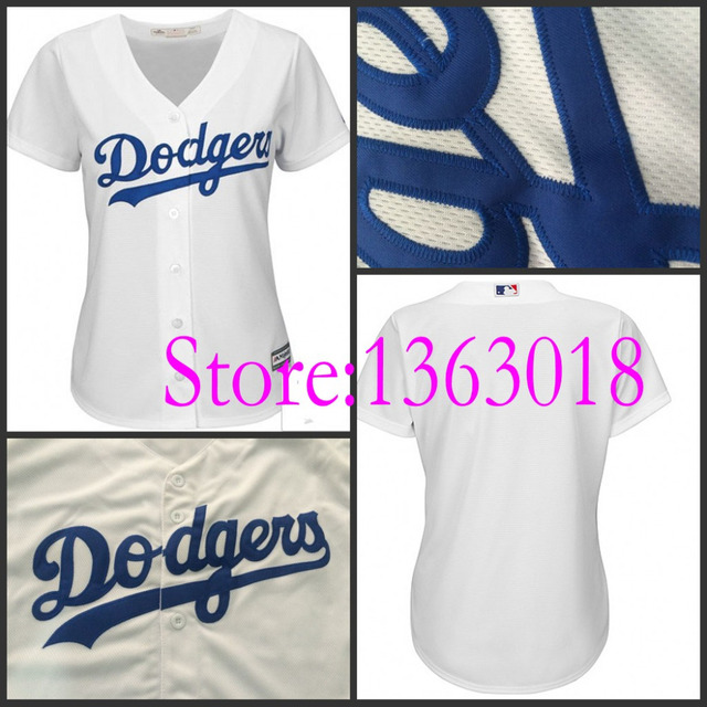 timeless design 8fa7b 97974 US $32.99  2015 New authentic la dodgers Womens blank jerseys cheap cool  base Los Angeles Dodgers Baseball Jersey,stittched, top quality-in Baseball  ...
