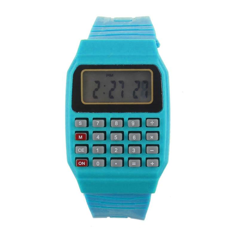 Clok Silicone Multi Purpose Date Time Electronic Wrist Calculator ...