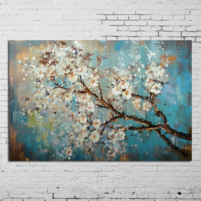 Handpainted Modern Abstract Flower Canvas Art Decoration of Oil Painting Wall Pictures For Living Room Paint