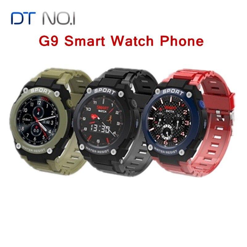 № 1 G9 1,3 дюймов gps Bluetooth Смарт часы на открытом воздухе сердечного ритма вызова несколько спортивных режимов IP67 Смарт часы мобильного телефона для мобильного телефона 2G GSM часы телефон