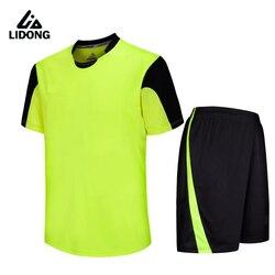 2018 lidong new Men kids survetement football jerseys kit sports soccer jersey set shirt shorts custom number name logo