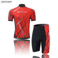 XINTOWN Men's Cycling Jersey Clothing mtb Riding Wear Bicycle jersey Red/Blue Bike Summer Short Sleeve Outdoor Sportswear