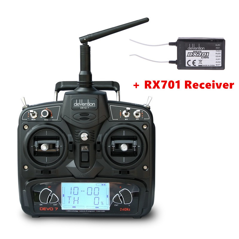 ФОТО Walkera DEVO 7 7CH Transmitter  2.4G Remote Controller  With RX701 Receiver