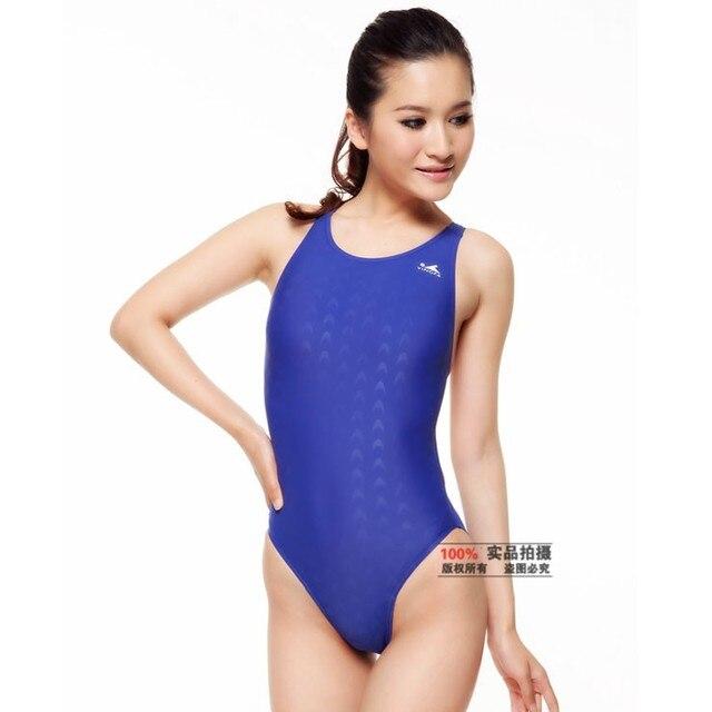 bd9e08b151 YingFa Women s Professional One-Piece Swimsuit Sports Racing Swimwear  Competition Swimsuit Bodybuilding Leotard Plus Size XXXL
