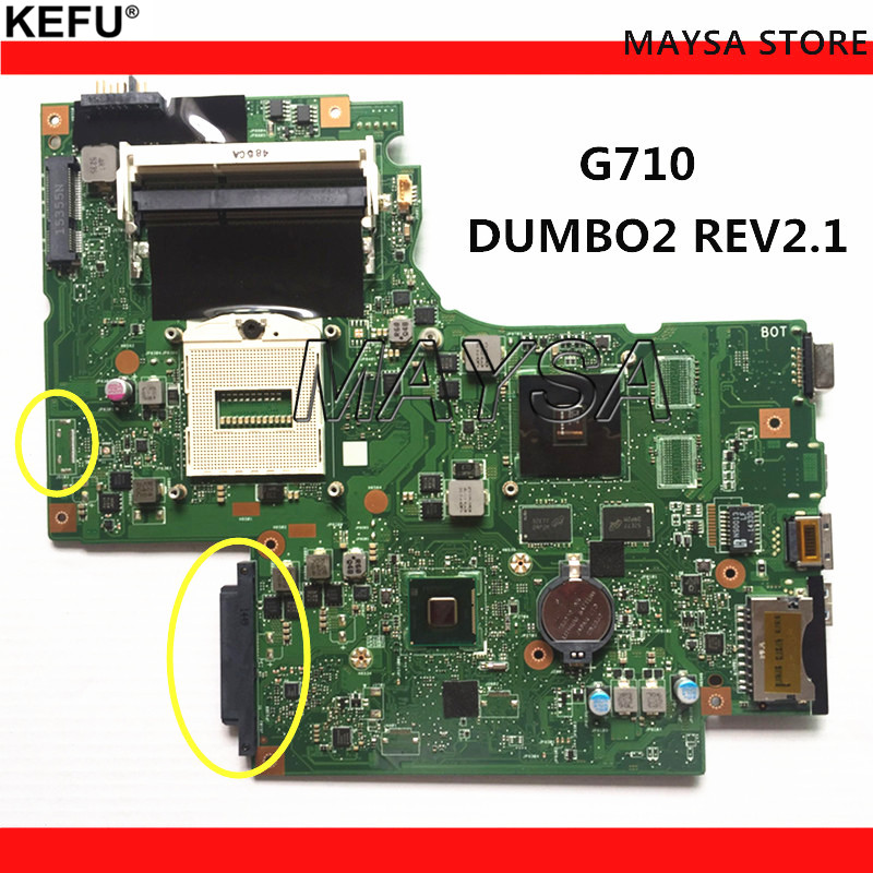 DUMBO2 Main board REV:2.1 rPGA947 fit for lenovo G710 notebook pc laptop motherboard, Graphic chip N15V-GM-B-A2