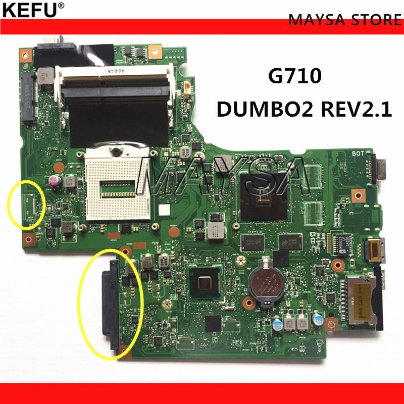 DUMBO2 Main board REV: 2.1 rPGA947 fit pour lenovo G710 notebook pc portable carte mère, puce graphique N15V-GM-B-A2