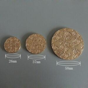 26 мм/37 мм/58 мм дизайн шаблон пресс пластина для компактного или тени для век порошок, может быть индивидуальный дизайн.