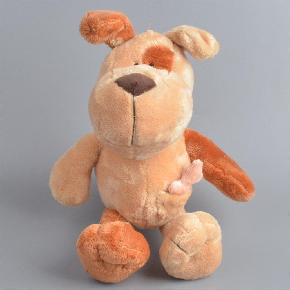 30 см коричневый Цвет собака Фаршированные Плюшевые игрушки, детские куклы подарок бесплатная доставка