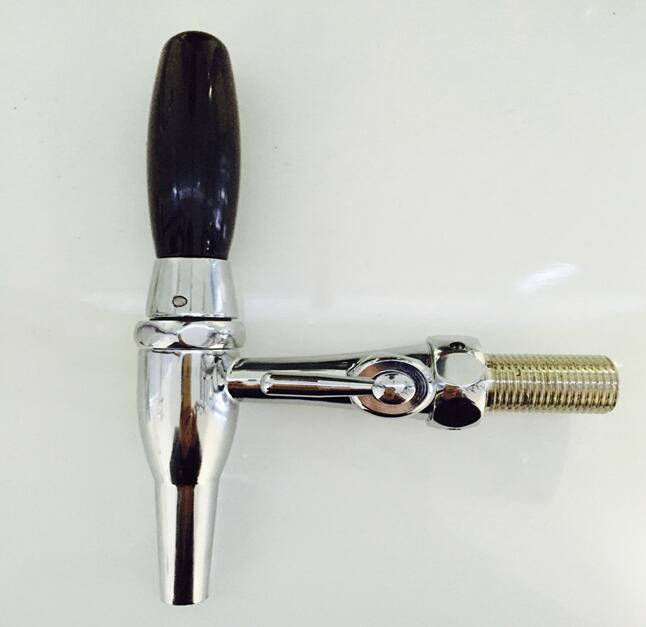 Tobacco pipe style brass body beer column faucet, Kegerator tap homebrew beer dispenser adjustable faucet/coffee machine faucet american style stainless steel slow pressure beer column tap coffee faucet beer barrel connecting faucet kegerator tap homebrew